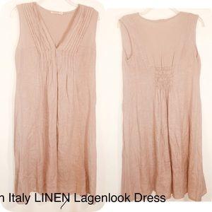 Vintage MADE ITALY LAGENLOOK 100% Linen Dress-S